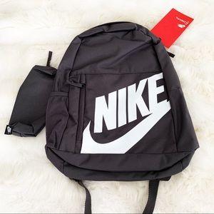 🌸 NIKE Backpack School Gym Bag NWT Grey White